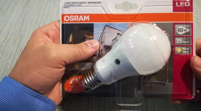 Recensione OSRAM Led Daylight Sensor E27