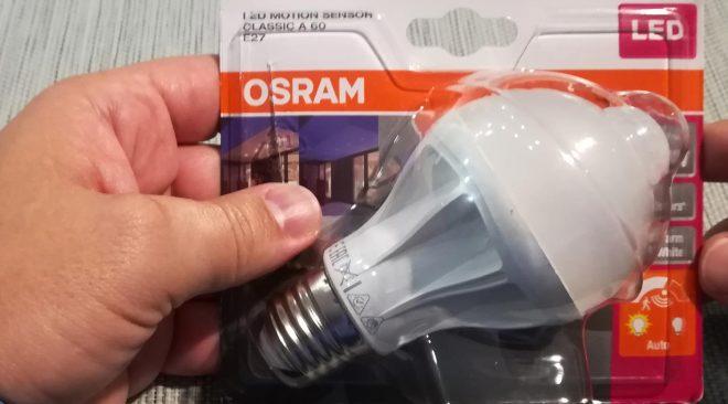 Recensione OSRAM Led Motion Sensor E27
