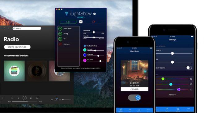 iLightShow sincronizza le lampade Hue con Spotify o iTunes