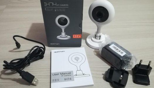 Recensione telecamera WiFi IH74 Apeman 1080P