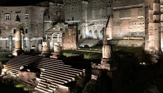 I Fori Imperiali di Roma illuminati a Led rivivono