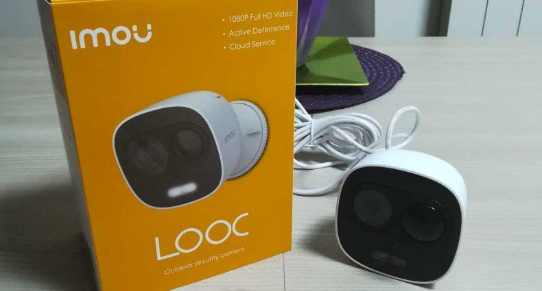 La confezione della telecamera Imou Looc Full HD da esterno
