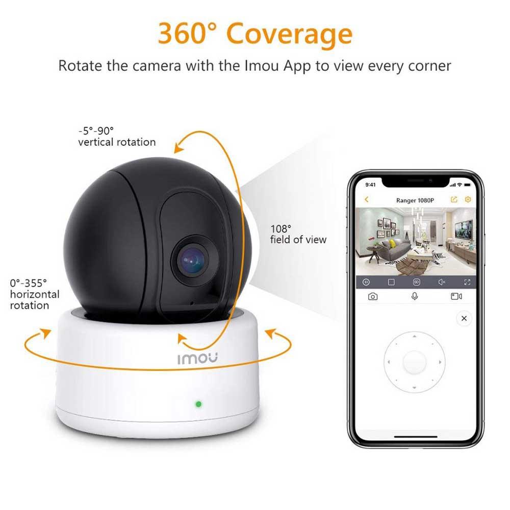La telecamera Imou Ranger 1080p ha un'orientabilità a 360°