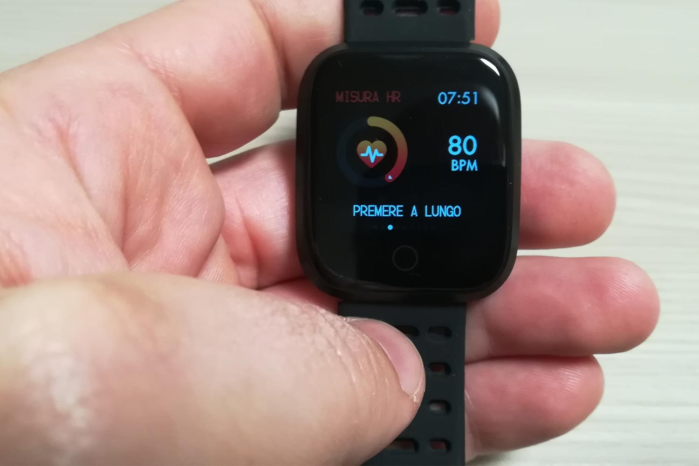 Funzione rilevamento battito cardiaco sul Fitness Tracker Kungix