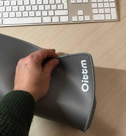 La morbidezza del mousepad XXL della Oittm