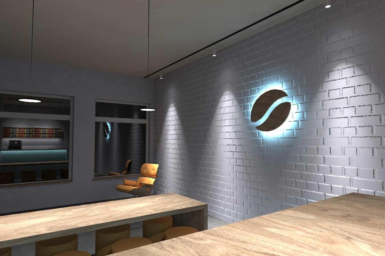 Esempio di simulazione illuminotecnica fatta con Relux Desktop