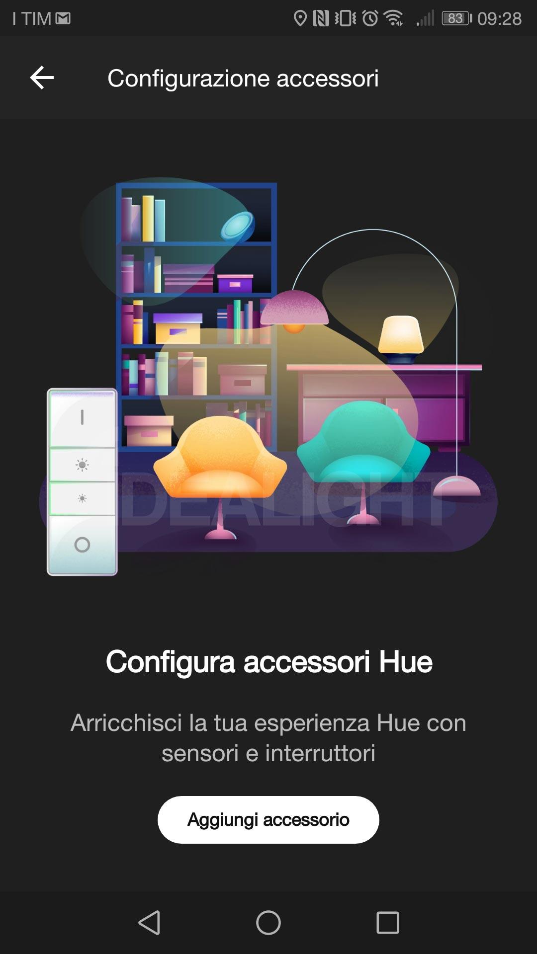 Schermata Hue App accessori 2