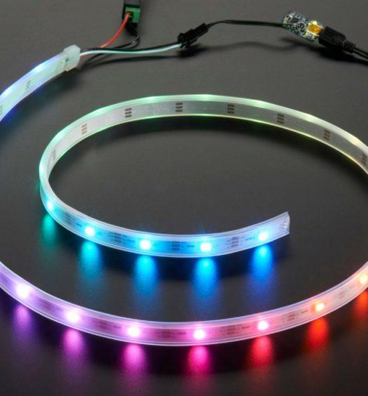 Esempio di stripled RGB collegata e funzionante