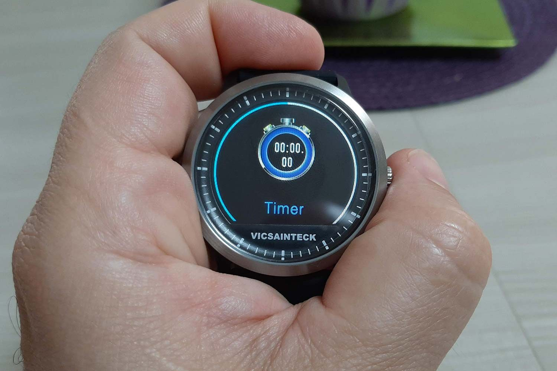 Funzione cronometro sullo smart watch Vicsainteck