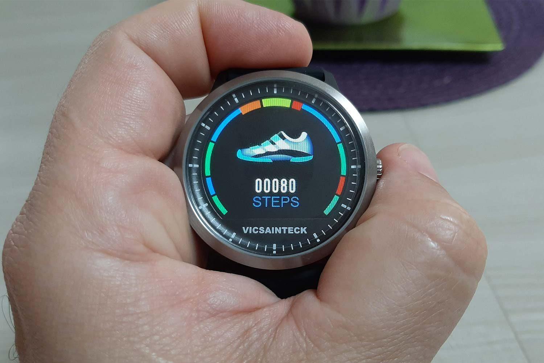 Funzione passi smart watch Vicsainteck