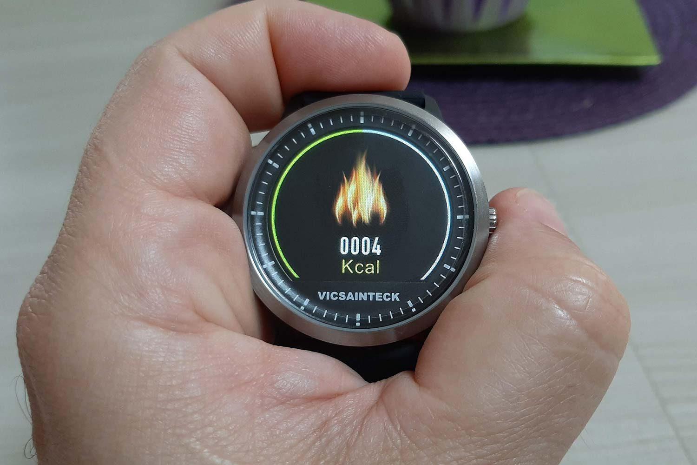 Funzione calorie sullo smart watch Vicsainteck