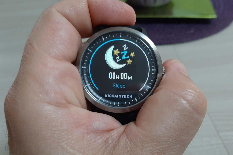 Funzione rilevamento sonno sullo smart watch Vicsainteck